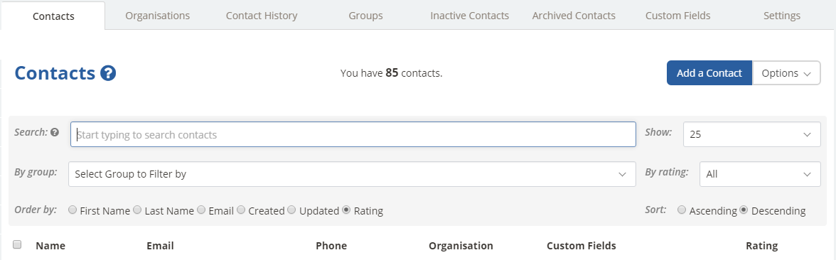 Import Contacts Guide - Contacts - InTouch